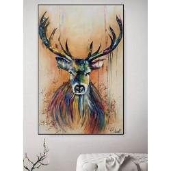 Maleri af løve - The King