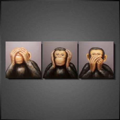 Maleri -  Abes: No See, No Hear, No Speak II